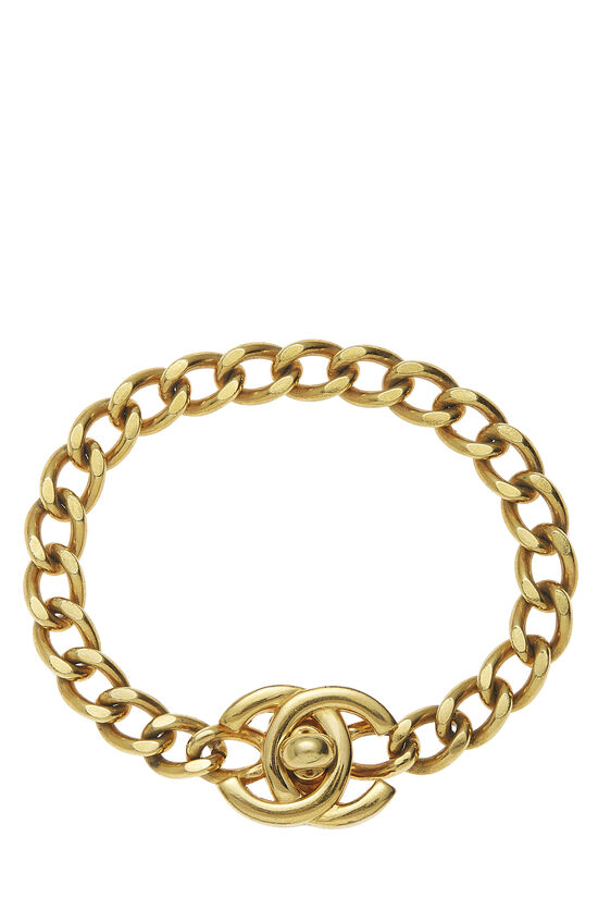 Gold 'CC' Turnlock Bracelet Small, , large image number 0