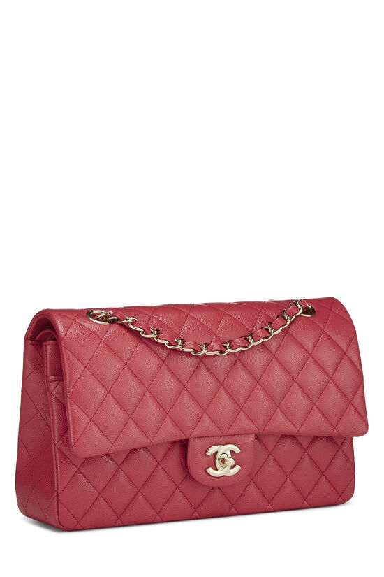 Pink Quilted Caviar Classic Double Flap Medium, , large image number 1