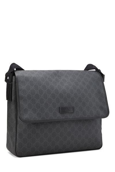 Black Original GG Supreme Canvas Messenger Bag Large, , large