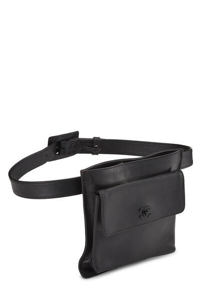 Black Calfskin Belt Bag 75, , large