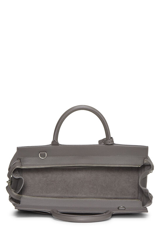 Grey Calfskin Rive Gauche Cabas Small, , large image number 6