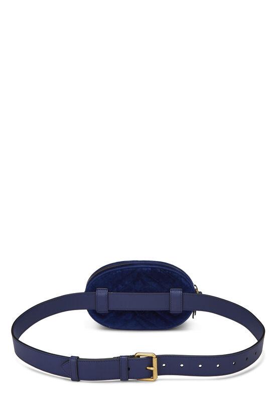 Blue Velvet GG Marmont Belt Bag Mini, , large image number 3