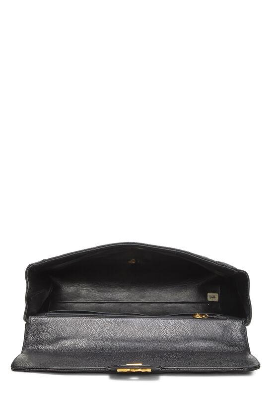 Black Quilted Caviar Handbag, , large image number 5