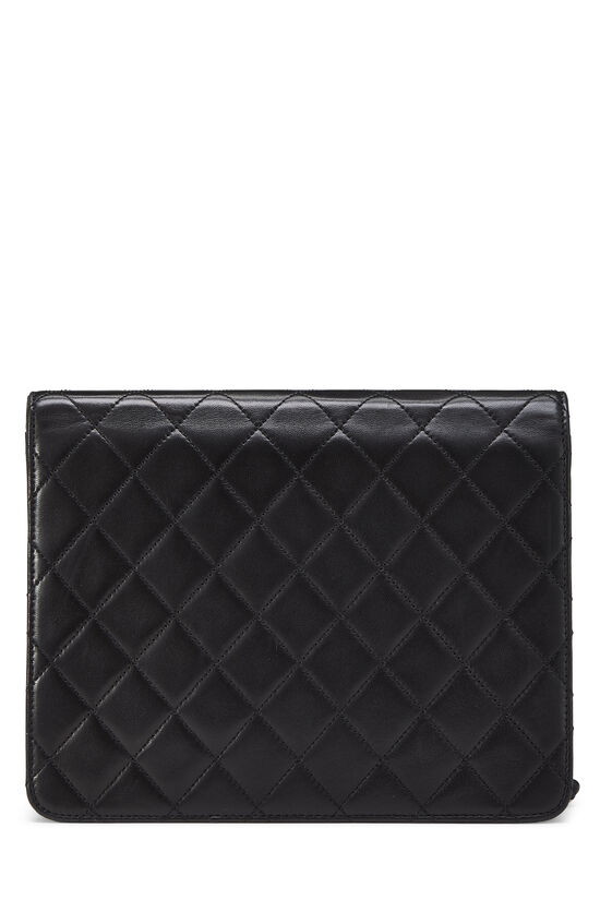 Black Quilted Lambskin Ex Flap Small, , large image number 3