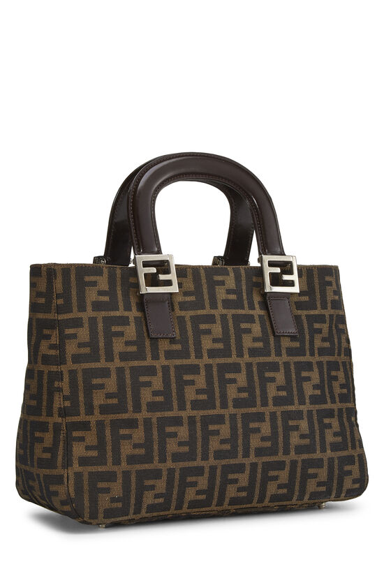 Brown Zucca Canvas Handbag Small, , large image number 1