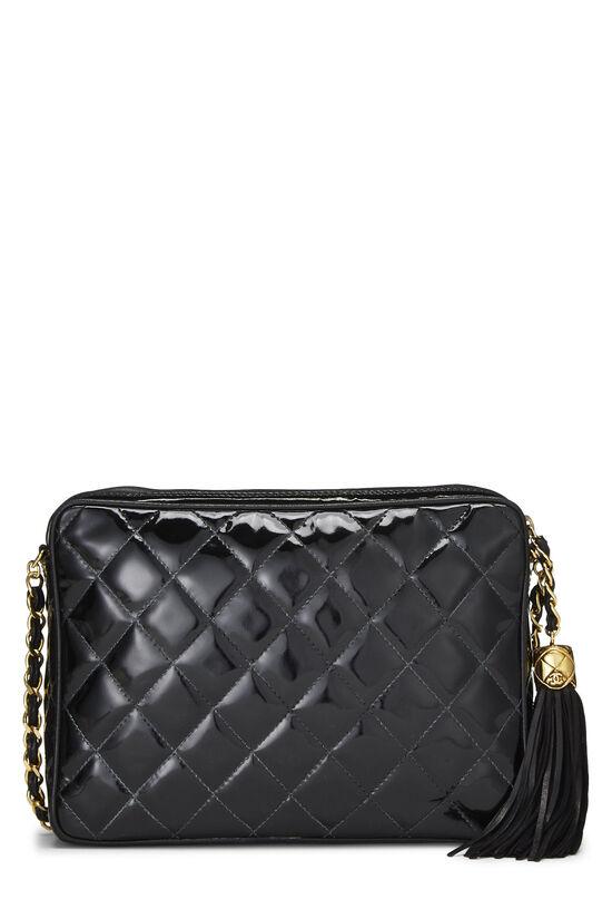 Black Patent Leather Pocket Camera Bag Medium, , large image number 4