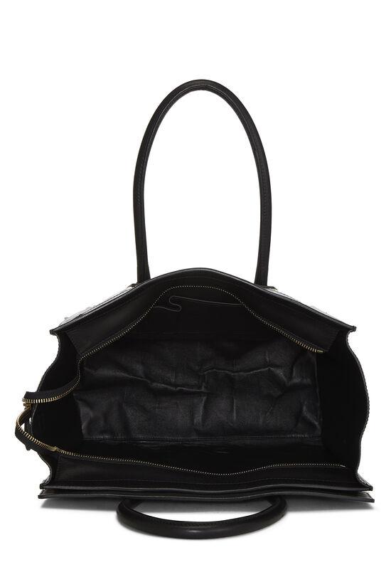 Black Calfskin & Animal Print Canvas Luggage Medium, , large image number 5
