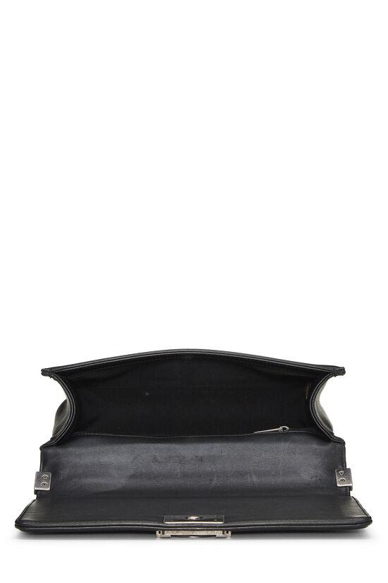 Black Quilted Lambskin Boy Bag Medium, , large image number 6