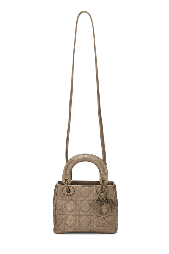 Bronze Cannage Quilted Lambskin Lady Dior Mini, , large image number 6