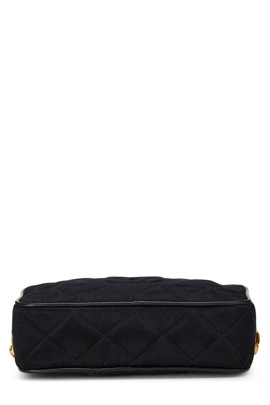 Black Quilted Satin 'CC' Camera Bag Mini, , large image number 4