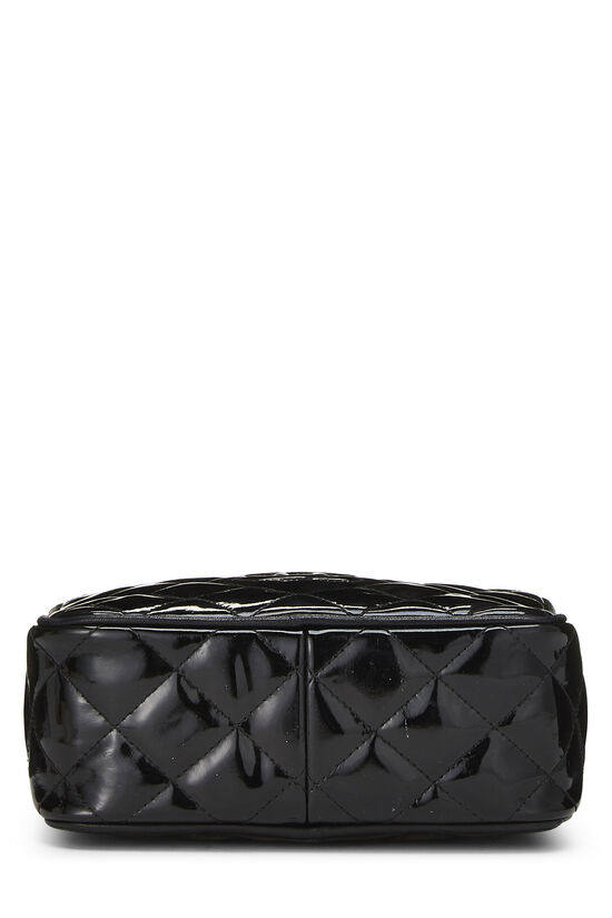 Black Patent Leather Diamond Camera Bag Mini, , large image number 4