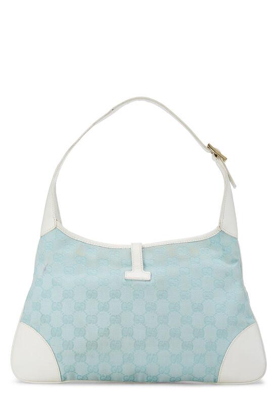 White & Blue GG Canvas Jackie Shoulder Bag Small, , large image number 3