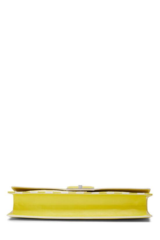 Yellow & White Damier Mosaic Envelope Clutch, , large image number 4