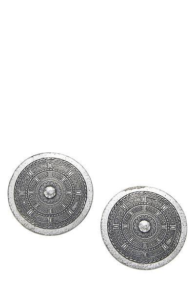 Silver Shield Clip-On Earrings
