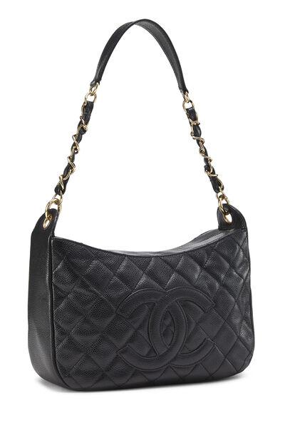 Black Caviar Timeless 'CC' Shoulder Bag, , large