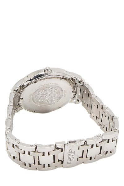 White & Stainless Steel Clipper Watch GM, , large