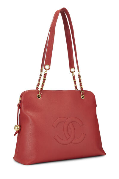 Red Caviar Zip Tote Large, , large