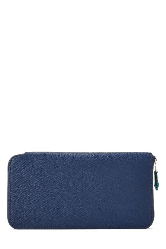 Blue Saphir Silk-In Epsom Azap Continental Wallet, , large image number 2