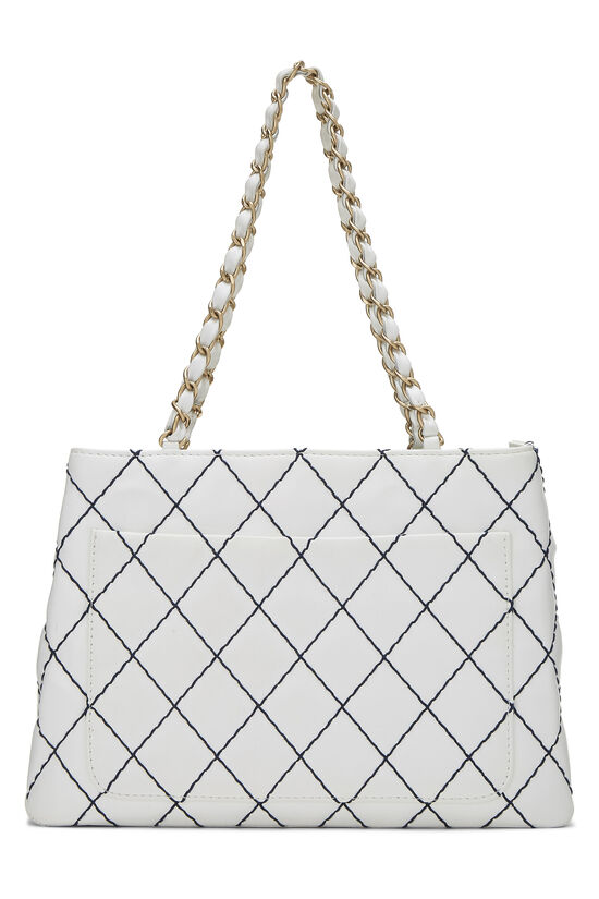 White Calfskin Wild Stitch Tote, , large image number 3