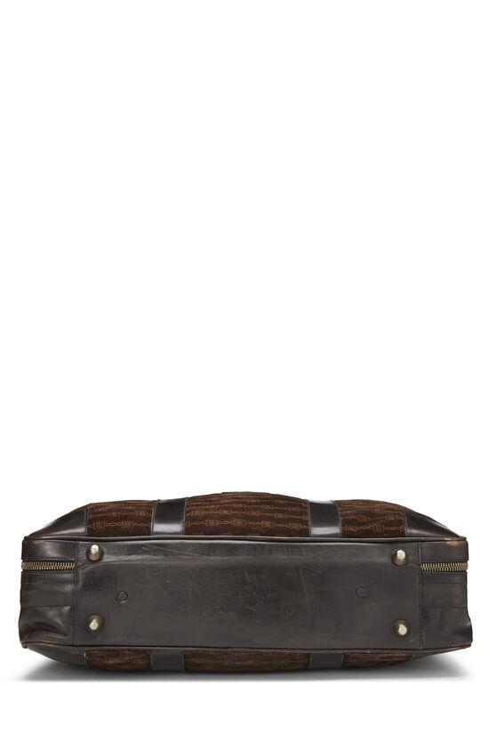 Brown Suede Logo Suitcase, , large image number 4