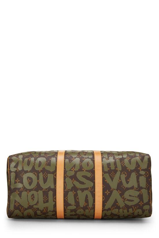 Stephen Sprouse x Louis Vuitton Green Monogram Graffiti Keepall 50, , large image number 4