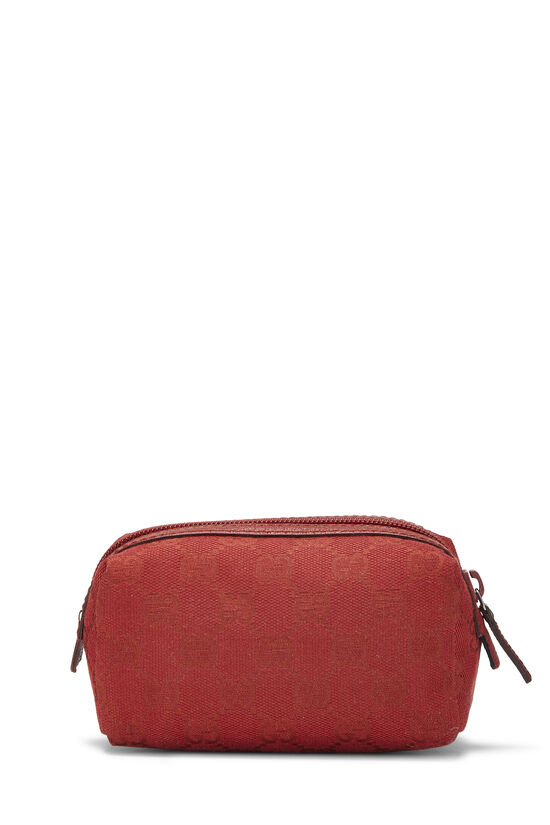 Red GG Canvas Cosmetic Pouch Small, , large image number 2