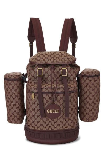Burgundy GG Canvas Backpack Large
