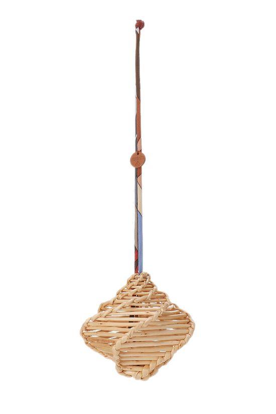 Beige Wicker Petit Boule Ornament, , large image number 3