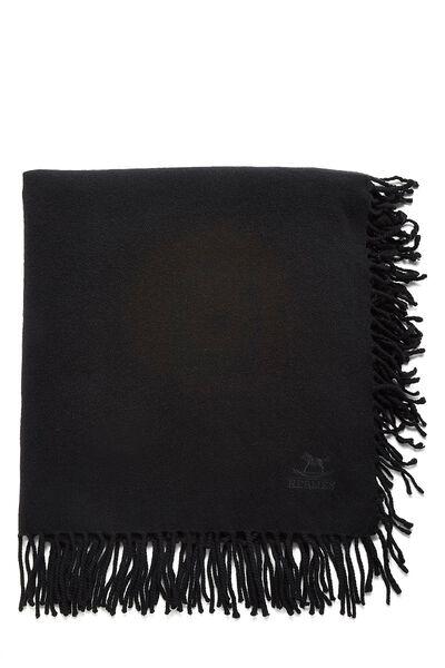 Black Cashmere Baby Blanket