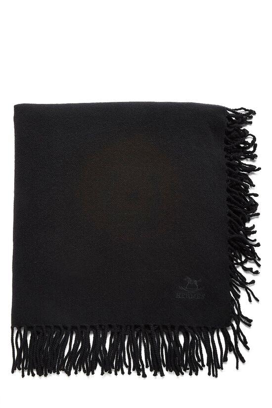 Black Cashmere Baby Blanket, , large image number 0