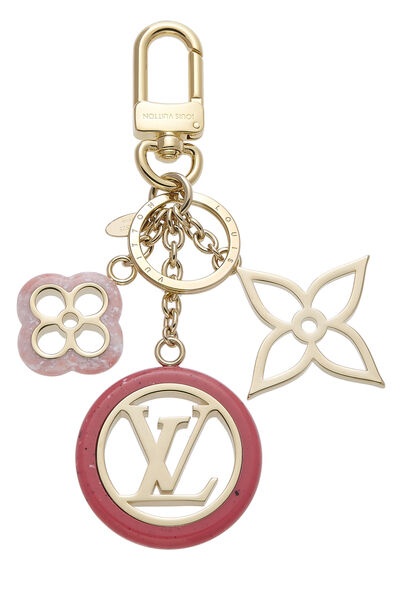 Pink & Gold Fleur De Monogram Bag Charm