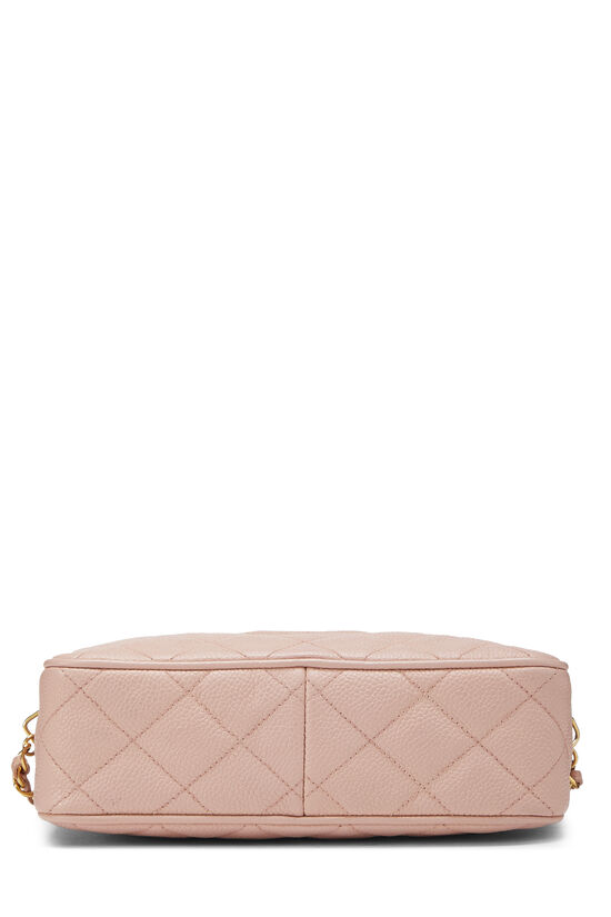 Pink Quilted Caviar Diamond Camera Bag Small , , large image number 4