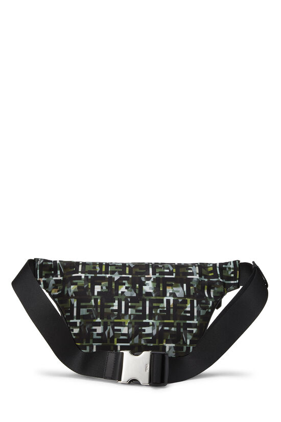 Multicolor Abstract Zucca Nylon Belt Bag, , large image number 3