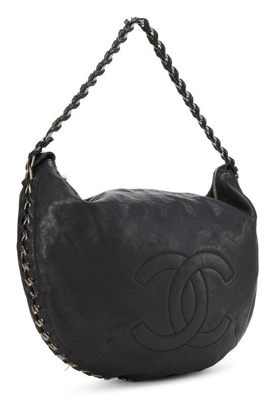 Black Calfskin Chain Hobo, , large image number 1