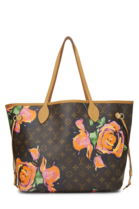 Stephen Sprouse x Louis Vuitton Monogram Canvas Roses Neverfull MM, , large image number 3