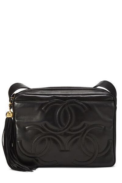 Black Lambskin 3 'CC' Shoulder Bag