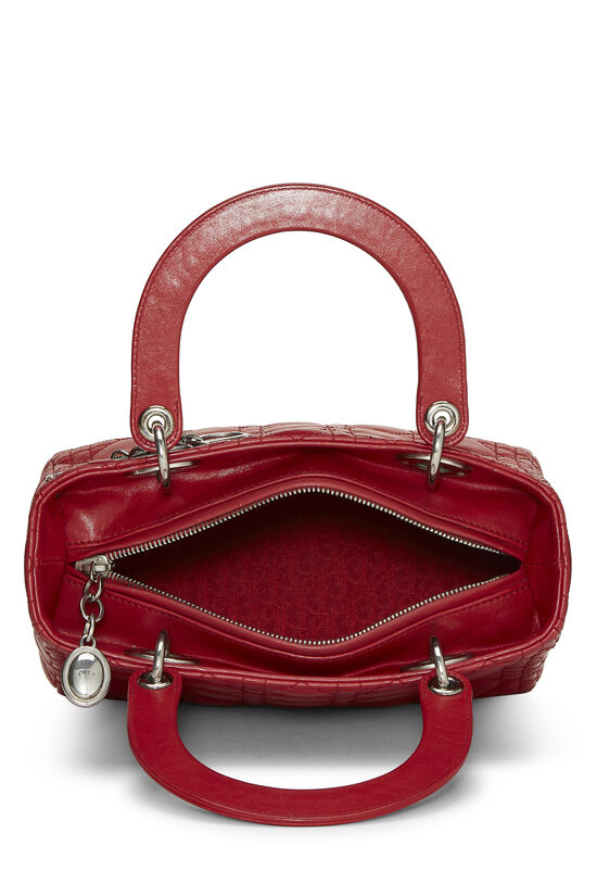 Red Cannage Quilted Lambskin Lady Dior Medium, , large image number 5