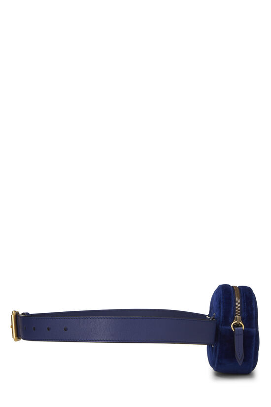 Blue Velvet GG Marmont Belt Bag Mini, , large image number 2
