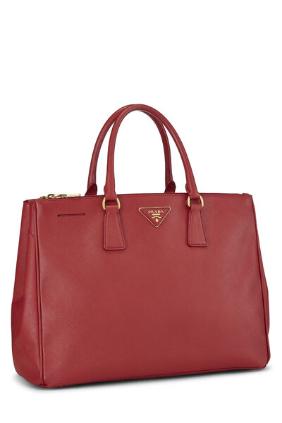 Red Saffiano Executive Tote Large, , large