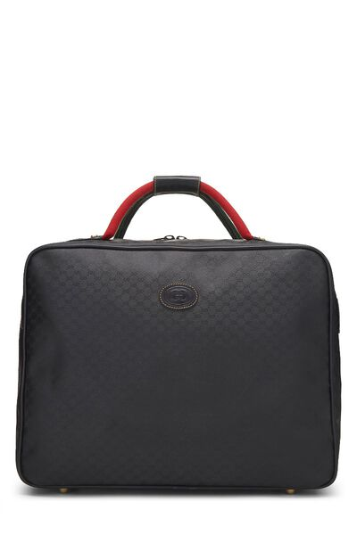 Black Original GG Coated Canvas Suitcase
