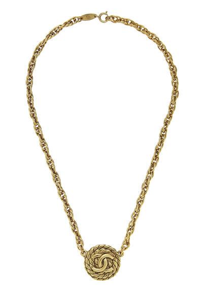 Gold 'CC' & Rope Choker