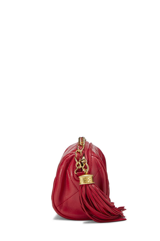 Red Quilted Lambskin Barrel Mini, , large image number 2