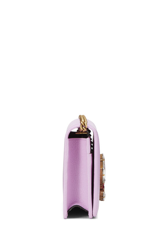Pink Leather GG Marmont Wallet on Chain Mini, , large image number 2