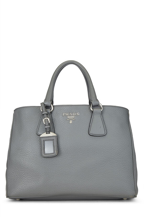 Grey Vitello Daino Handbag, , large image number 0