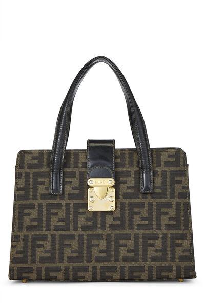 Brown Zucca Canvas Handbag Small