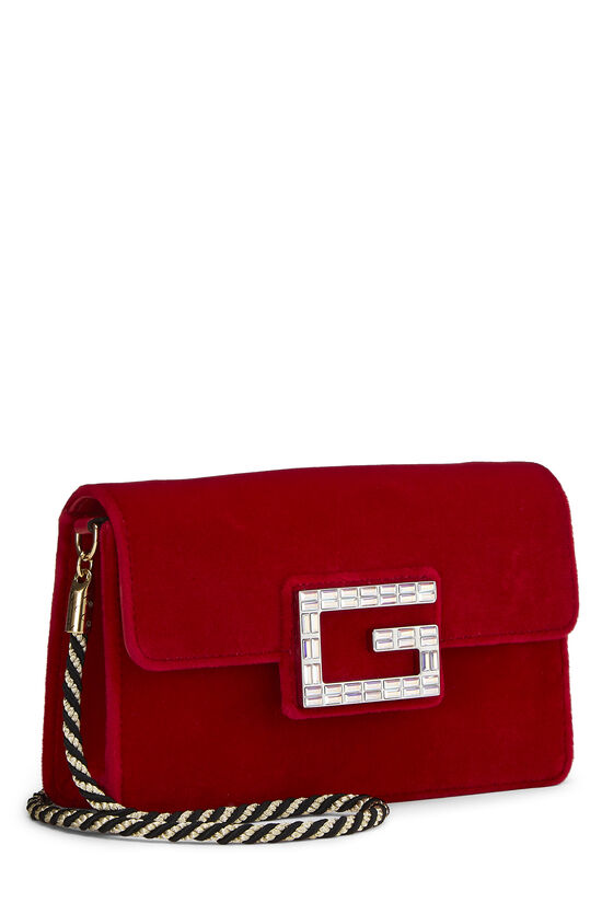 Red Velour Broadway Crossbody Mini, , large image number 1