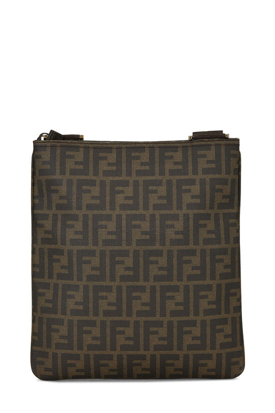 Brown Zucca Coated Canvas Flat Messenger Small, , large image number 4
