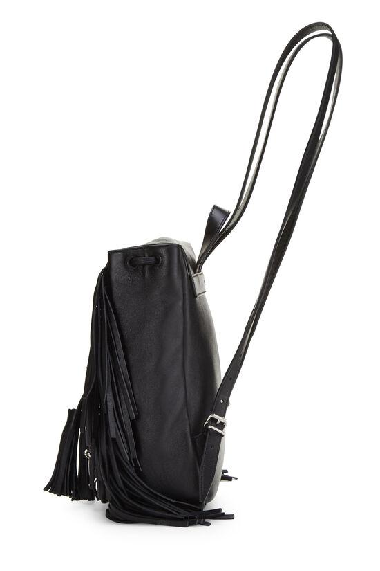 Black Calfskin Fringe Festival Backpack Small, , large image number 2
