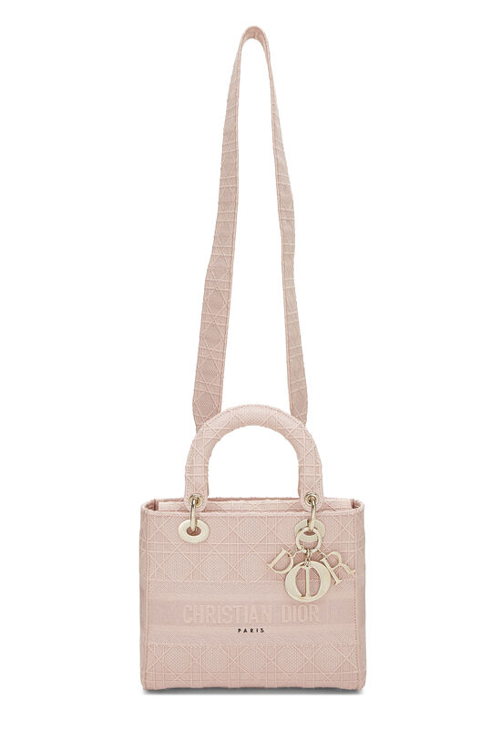 Pink Cannage Canvas Lady D-Lite Medium, , large image number 1