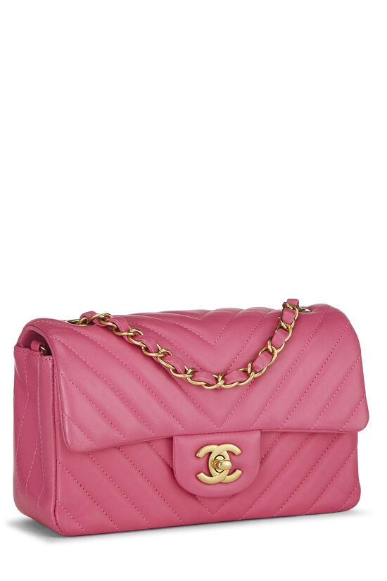 Pink Chevron Lambskin Classic Flap Mini, , large image number 1